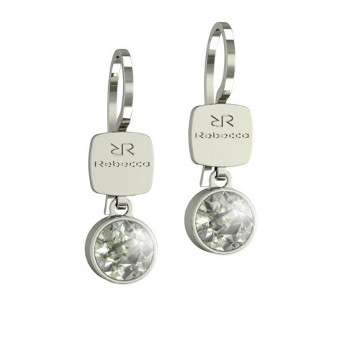 Candy Rebecca Black Rhodium Earrings Swarovski stone BCNOBN15