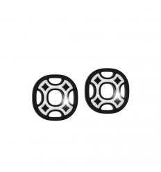 Seventies earrings bronze Rebecca black rhodium B70ONB11