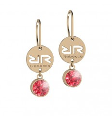 Rebecca Earrings Rose Gold Plated Candy bronze Swarovski stone BWSOOR01