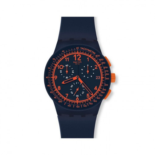 Swatch Chrono Plastic Watch REBIRTH BLUE SUSN401
