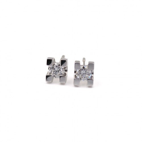 White Gold and Diamond Earrings 787810-30