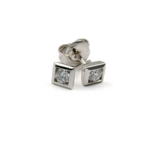 White Gold and Diamond Earrings R2168