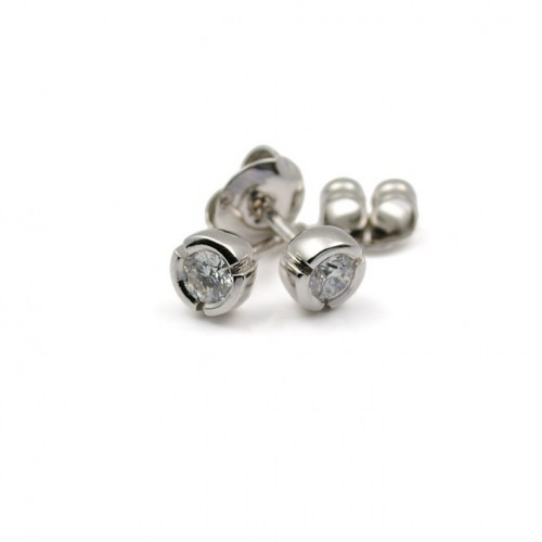 White Gold and Diamond Earrings R3039