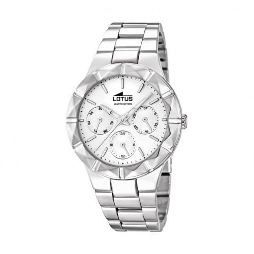 Trendy Steel Watch Lotus woman. Multifunction. 15919/1