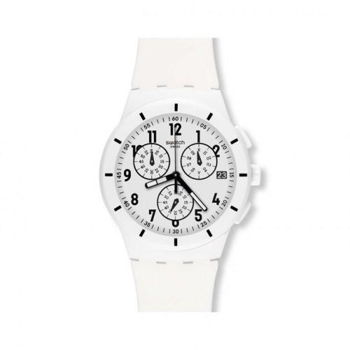 Swatch Chrono Plastic White Twice Again watch. SUSW402
