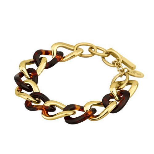 Lotus Style Steel gold plated with brown Carey. LS1604-2/2