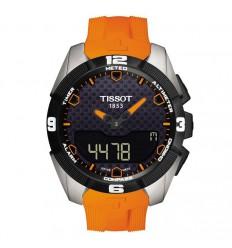 Tissot watch. T-Touch Expert Solar orange touch. T0914204705101