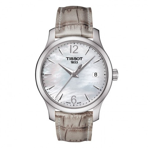 Tissot Tradition lady watch mother of pearl sphere. T0632101711700