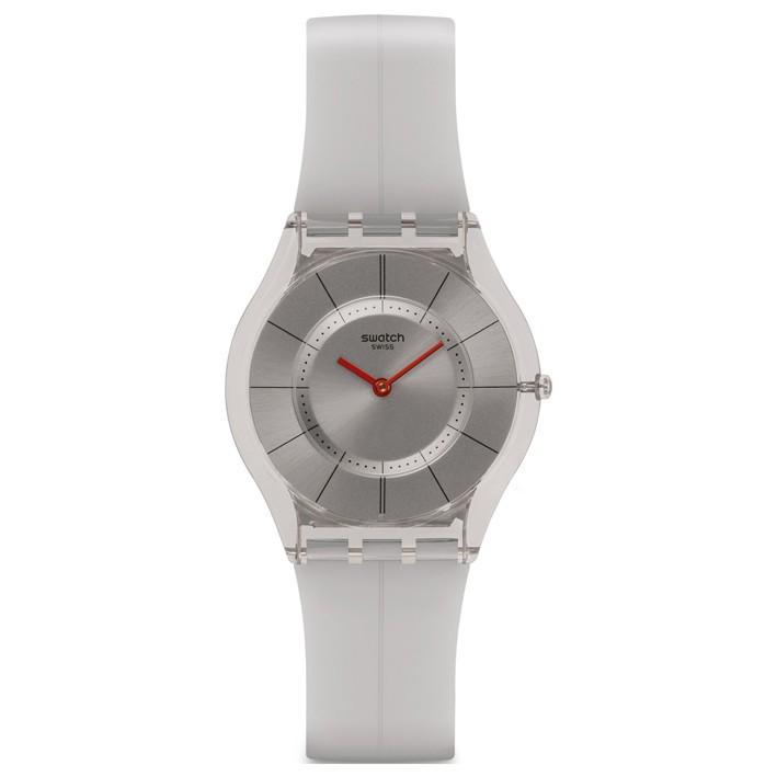 ecf5fbc62624 Reloj Swatch Skin Ghost extraplano correa color gris de silicona. SFM129