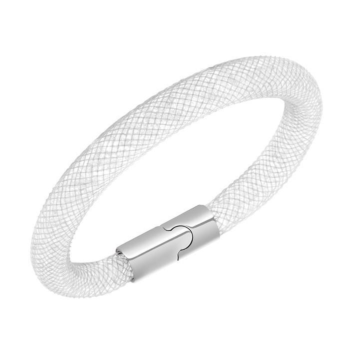 2c09cc03527 Pulsera Swarovski Stardust Gray color blanco y cierre magnético. 5102550  5089839