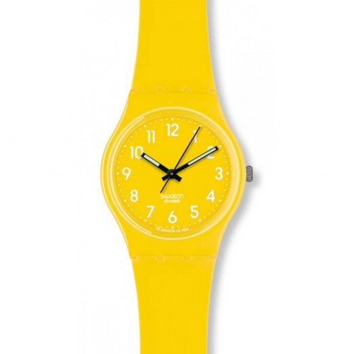 Yellow plastic swatch watch, Swatch Original Gent Lemon Time, GJ128