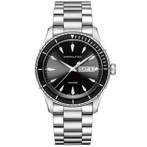 Hamilton Jazzmaster Seaview watch black quartz 42 mm. H37511131