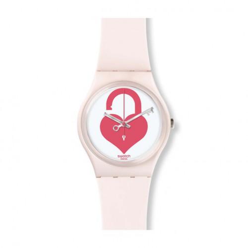 Swatch valentine Unlock My Heart in white. GZ292
