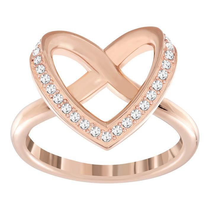 Anillo Swarovski Cupidon color cobre corazón Swarovski. 5139687 5113590 3a82d60311