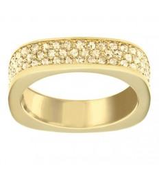 Vio transparent Swarovski stones ring yellow gold plated. 5139700 5112139
