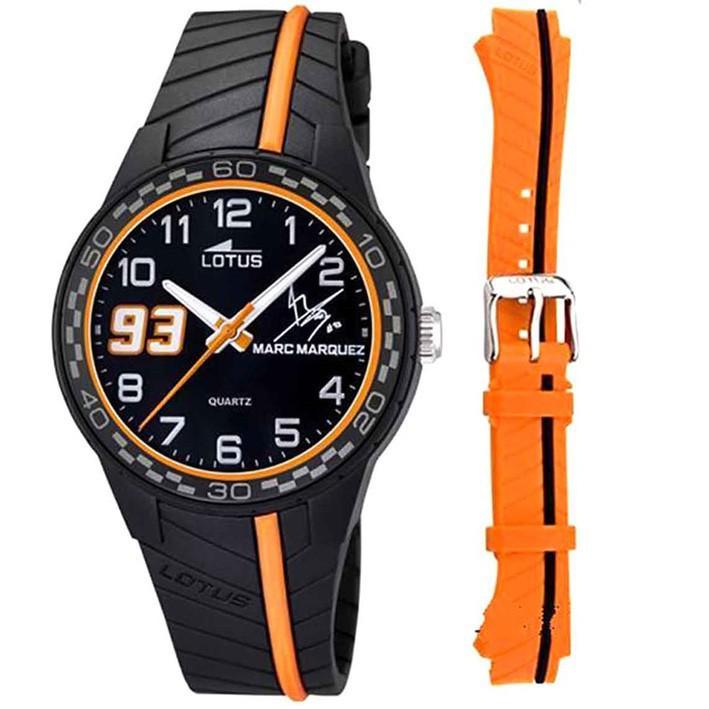 5ab128040fb1 Lotus Marc Marquez 18106 6 reloj negro para niño correa de caucho