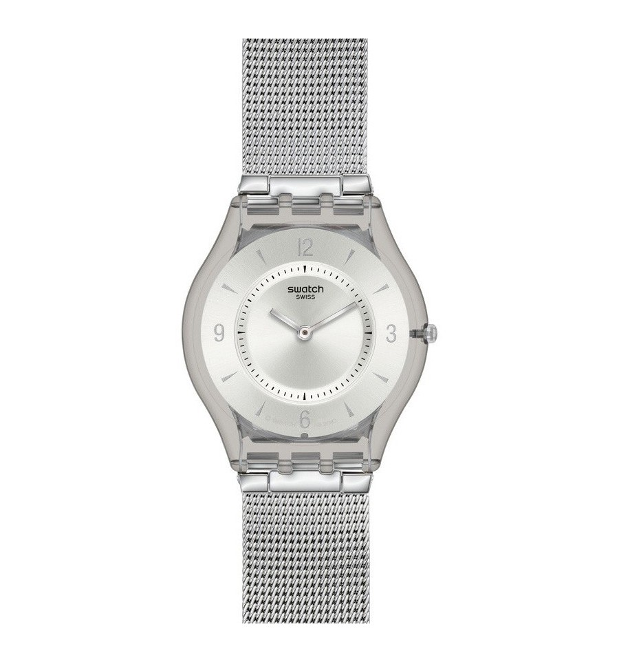 los recién llegados c4b3b 6f55c Reloj Swatch Skin Metal Knit SFM118M