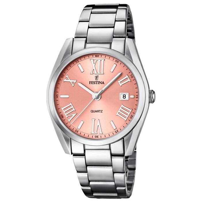 955dd5a029de Reloj Festina F16790 2 acero inoxidable pulido esfera color rosa 37 mm