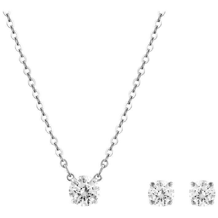 72fafafa4 Swarovski Attract 5113468 earrings and pendant set transparent stones