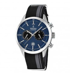 Festina Men's watch blue chronograph F16827/2 textile strap and date