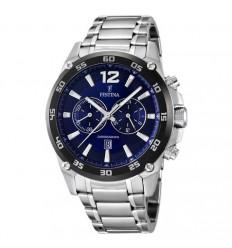 Festina watch dark blue, F16680/2 47 mm stainless steel bracelet