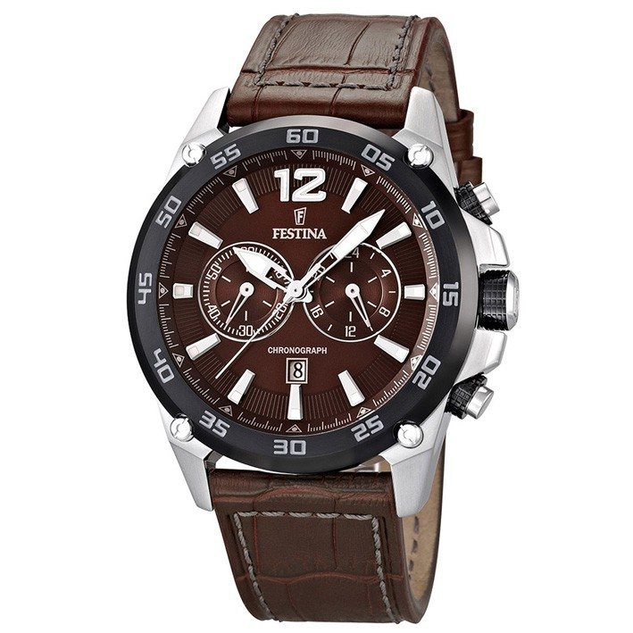ed29dbb5786e Reloj Festina hombre cronógrafo marrón correa cuero comprar F16673 3