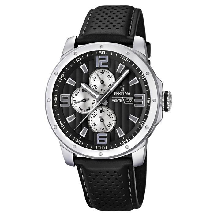 2b7e63f55e65 F16585 9 comprar reloj Festina multifunción hombre correa cuero color negro