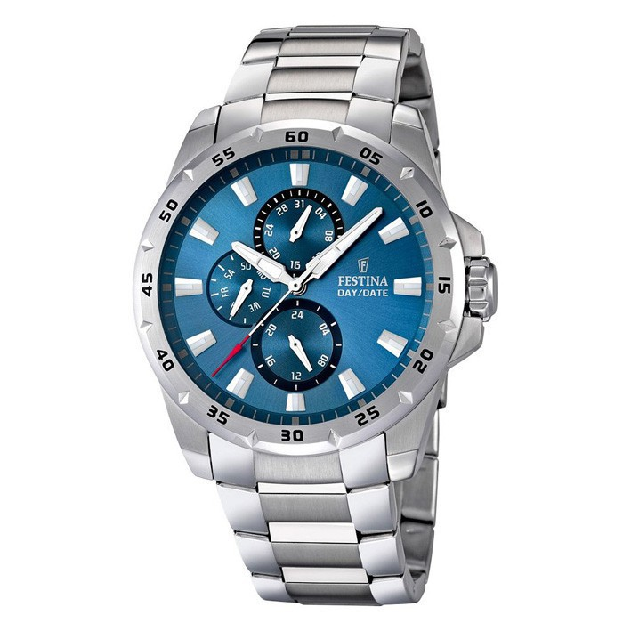Reloj Festina hombre multifunción F16662 2 color azul acero inoxidable e829b99357e2