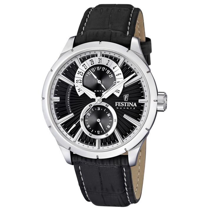 ba5e026a5efc Reloj Festina hombre correa cuero negra esfera negra F16573 3