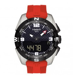 T-Touch Expert Solar red silicone strap Tissot T0914204705700