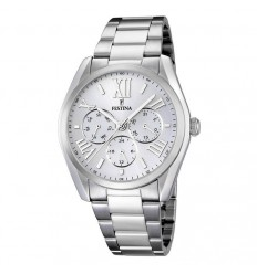 Multifunction watch Festina man F16750/1 polished stainless steel 42 mm