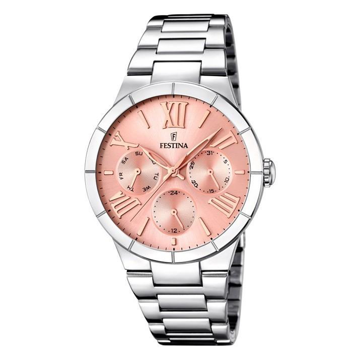 6fe71037229d Festina mujer MADEMOISELLE F16716 3 reloj acero inoxidable pulido esfera  rosa