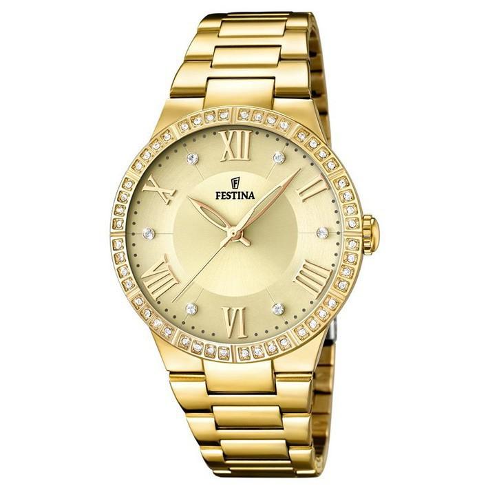 8c912feb68de Reloj Festina Mademoiselle F16720 2 mujer esfera dorada circonitas