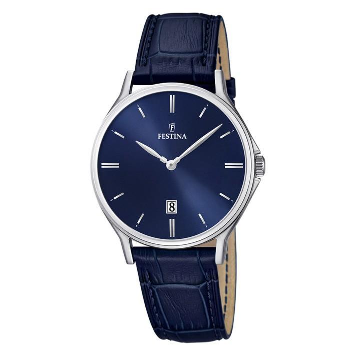 e032e0b82 Reloj Festina F16745/3 extraplano hombre con esfera azul y calendario