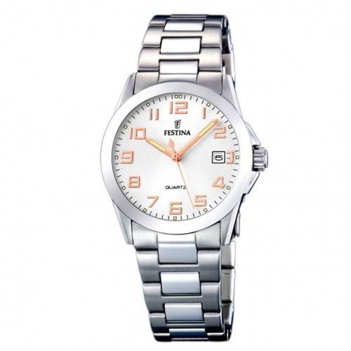Watch F16377/3 Festina classic woman with rose gold plated numbers