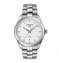 Tissot PR 100 watch man silver watch dial steel bracelet T1014101103100
