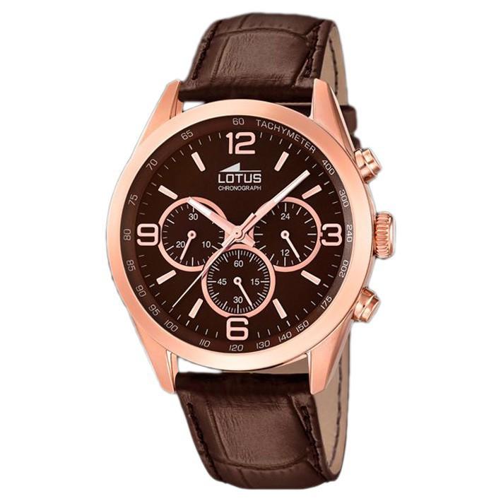 0615b4fad52e Reloj Lotus hombre Minimalist 18157 2 chapado en oro rosa esfera marrón