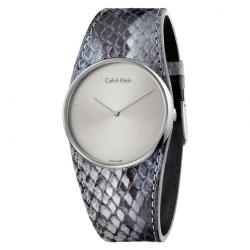 Calvin Klein women watch Spellbound K5V231Q4 gray leather strap