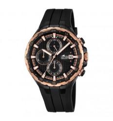 Lotus watch man 18188/1, black IP processing, rubber strap