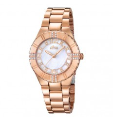 Lotus Trendy woman in pink gold plated 15908/1 mother of pearl dial diameter 34.50 mm