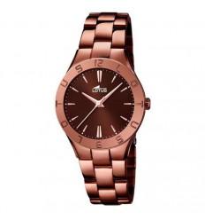 6dfadfac6b01 Reloj Trendy mujer acero inoxidable chapado color chocolate 15997 2