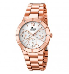 Trendy Lotus multifunction watch 15915/1 rose gold plated silver dial