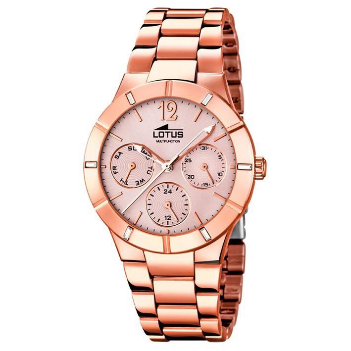 ded95545b4c5 Lotus Trendy multifunción 15915 2 reloj acero inoxidable chapado en oro rosa