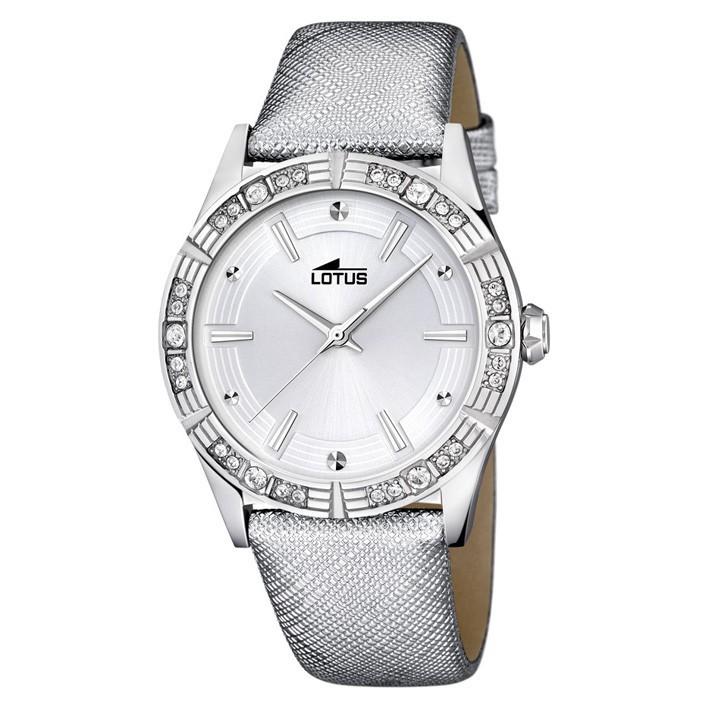 db12a4f20f67 Reloj mujer Lotus Trendy 15981 1 correa de piel gris esfera plateada