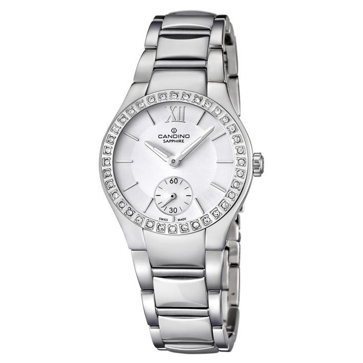 Pulido Inoxidable Acero C45371 Mujer Con Circonitas Candino Reloj xoedBC