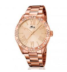 6b732a45c783 Lotus Trendy reloj mujer con circonitas 15993 2 brazalete y esfera rosados