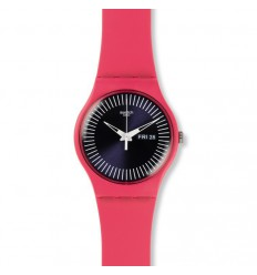 Berry Rail Swatch watch pink color SUOP702