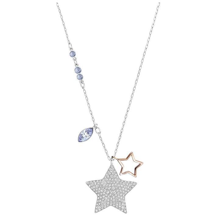 lo último 679f8 a4353 Colgante estrella Swarovski 5169394 Duo Star Médium piedras transparentes