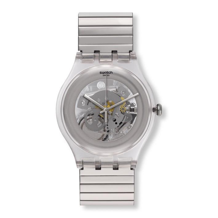 Con Cleared Mecanismo Brazalete Extensible Up Acero Reloj Visto Swatch rdWCBexo