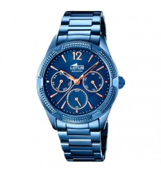 Trendy Watches Lotus woman 18248/2 blue rose gold plated indexes